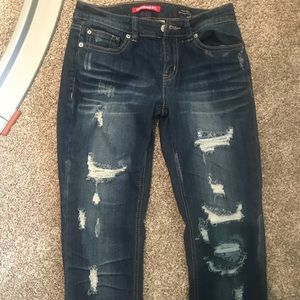 Union Bay distressed mid rise skinny jeans
